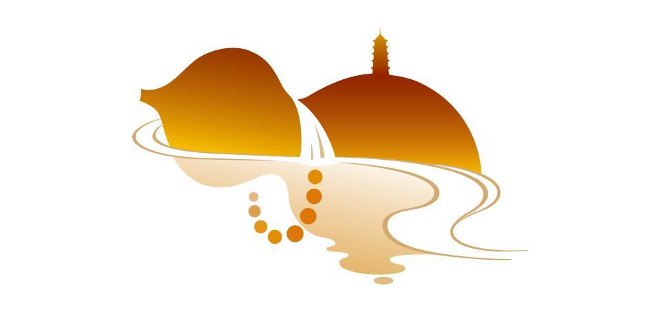 瀑布logo设计